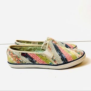 Womens KEDS Loafers Slip On Sneaker Patchwork 7.5